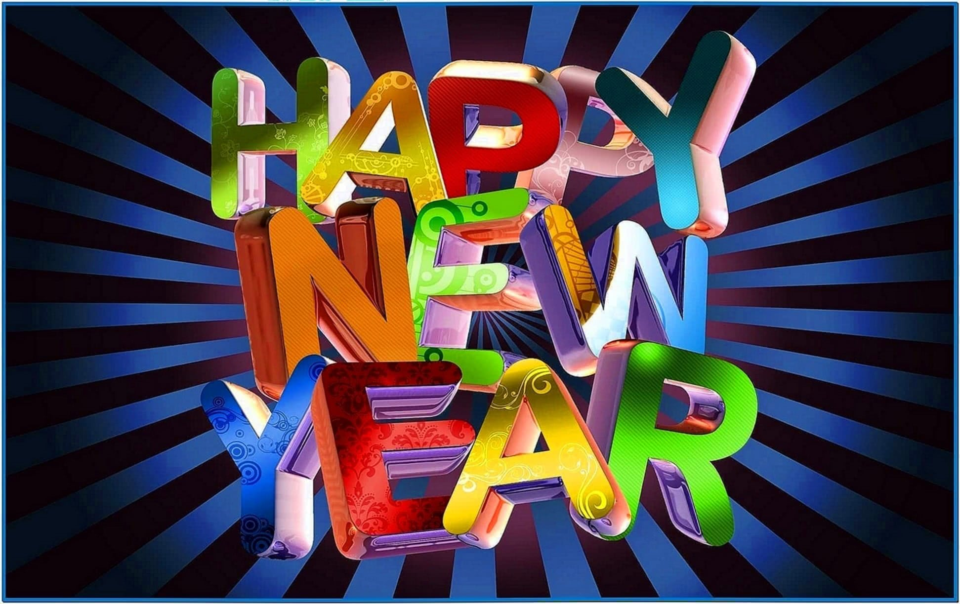 Happy new year screensavers and wallpapers