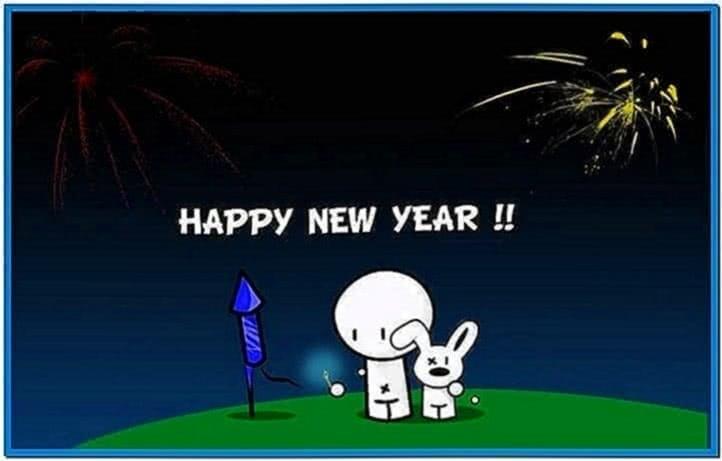 Happy new year screensavers Mac