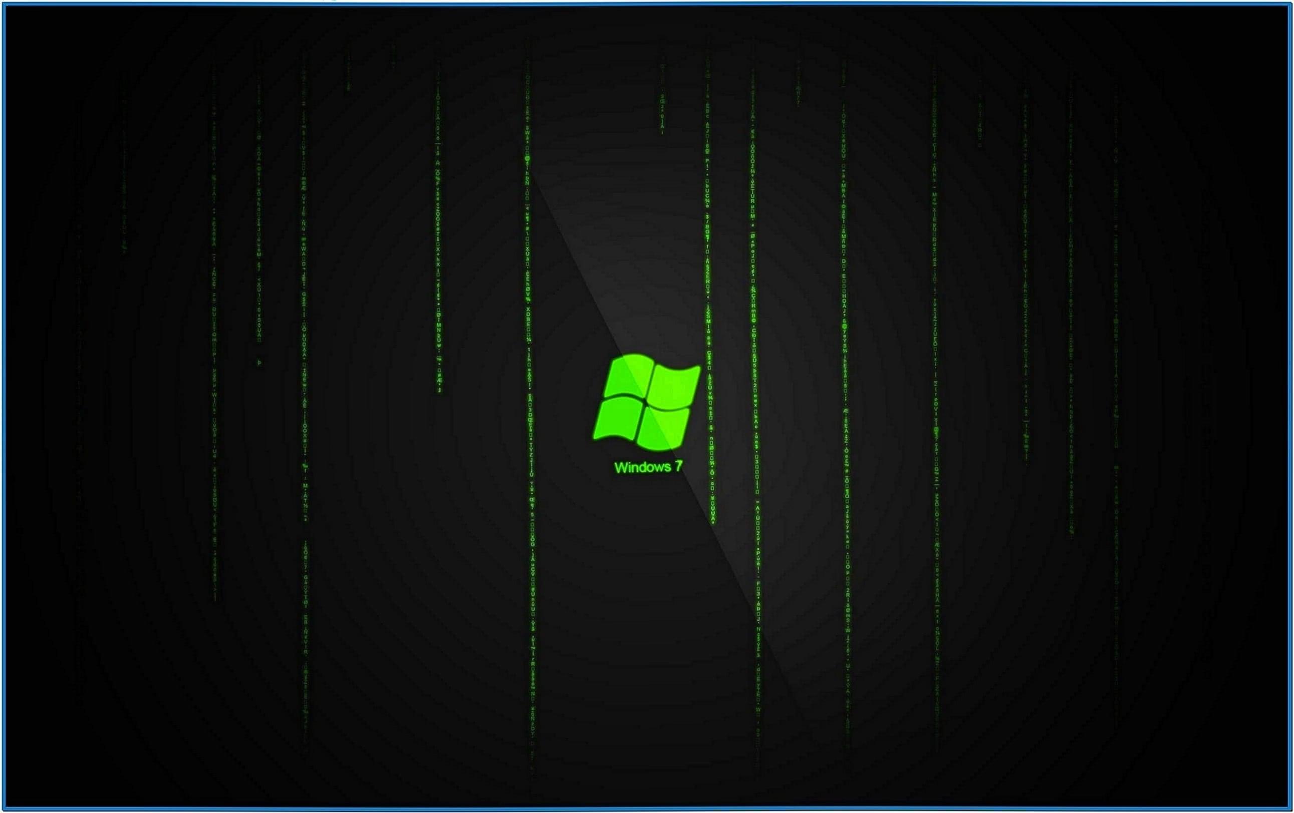 Hd matrix screensaver Windows 7
