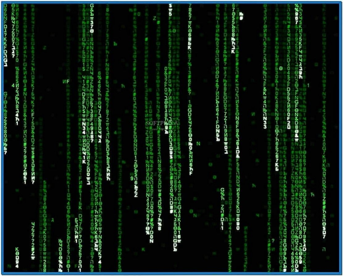 HD Matrix Screensaver Windows 7