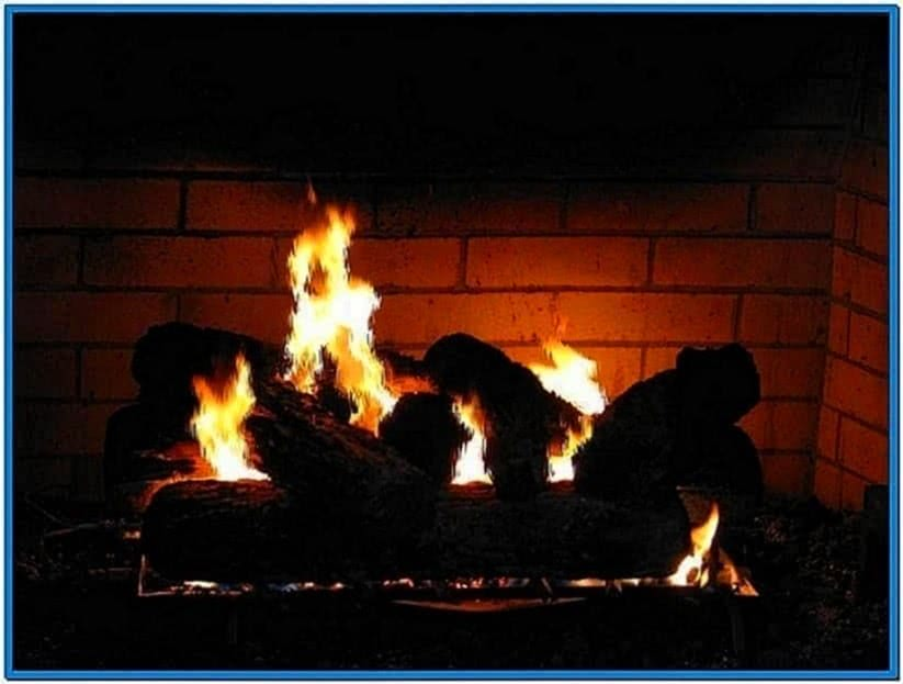 HDTV Screensavers Fireplace