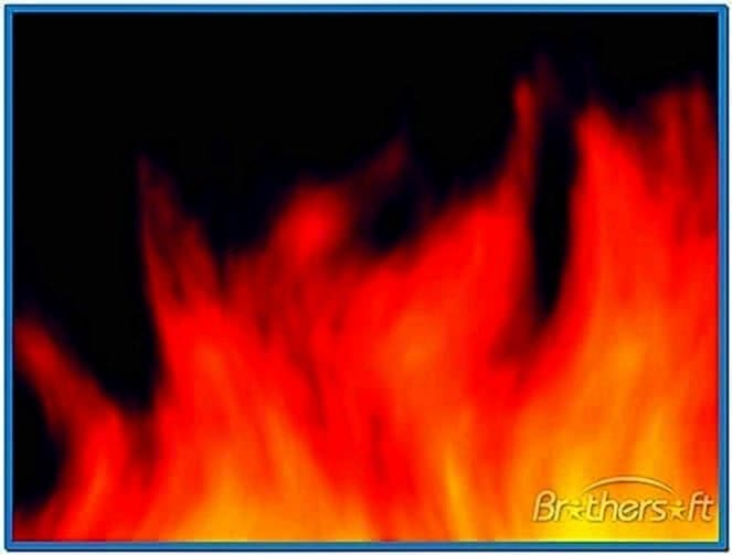 Heart on Fire Screensaver 1.0