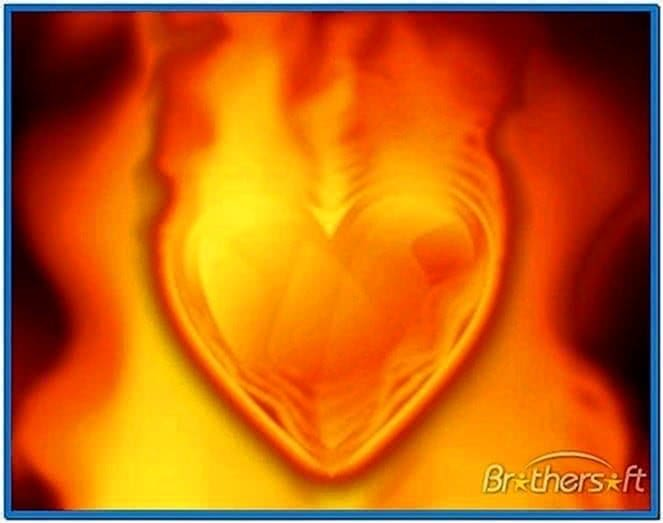 Heart on Fire Screensaver 1.0