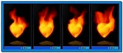 Heart on fire screensaver