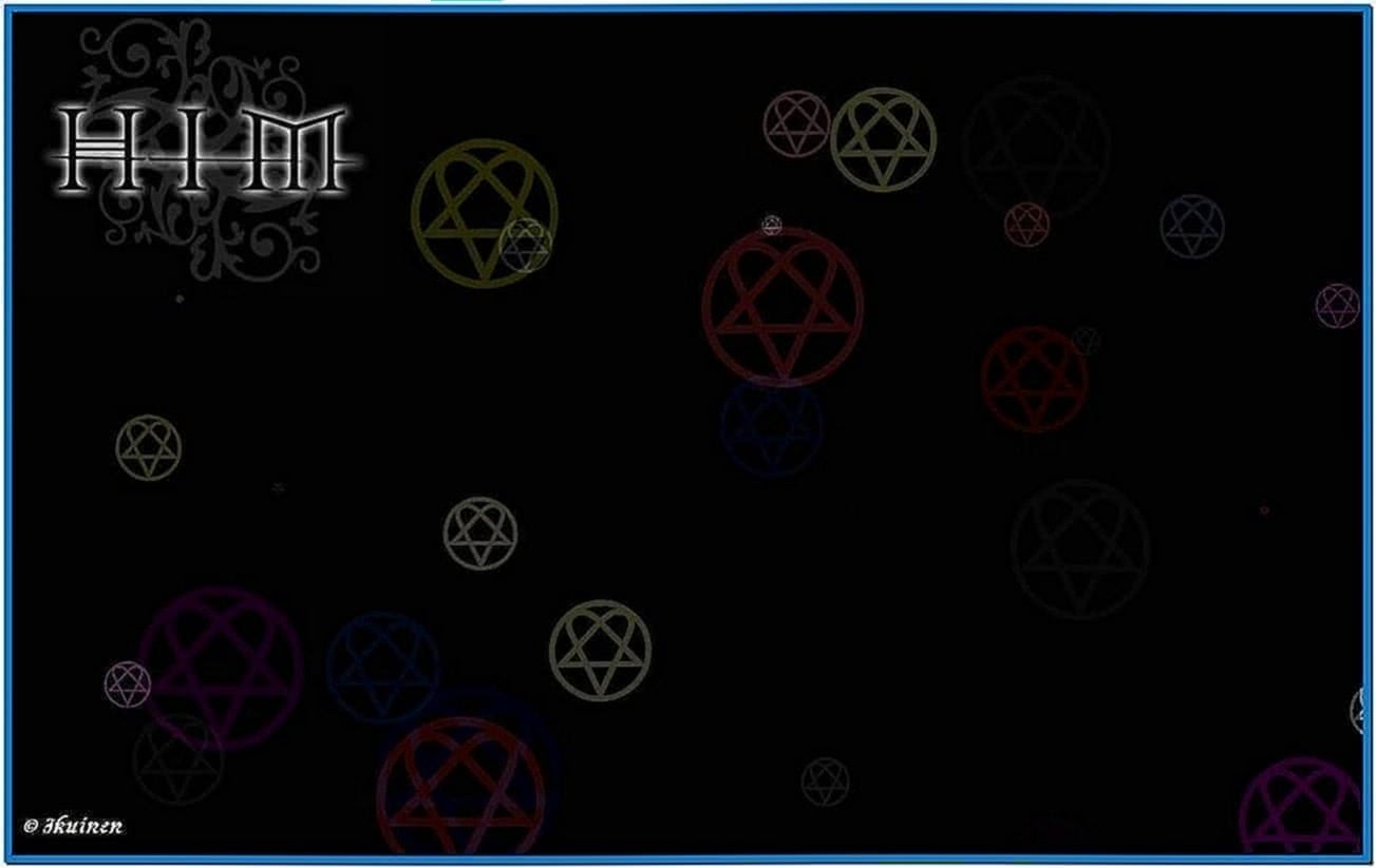 Heartagram Raindrops Screensaver