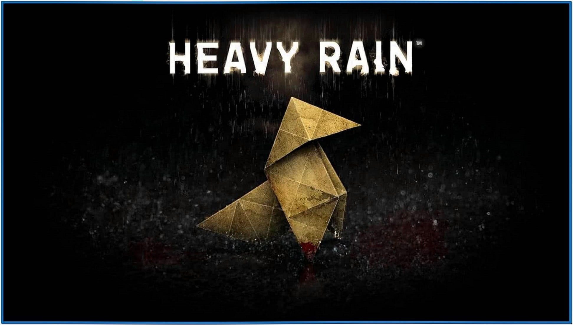 Heavy Rain Screensaver