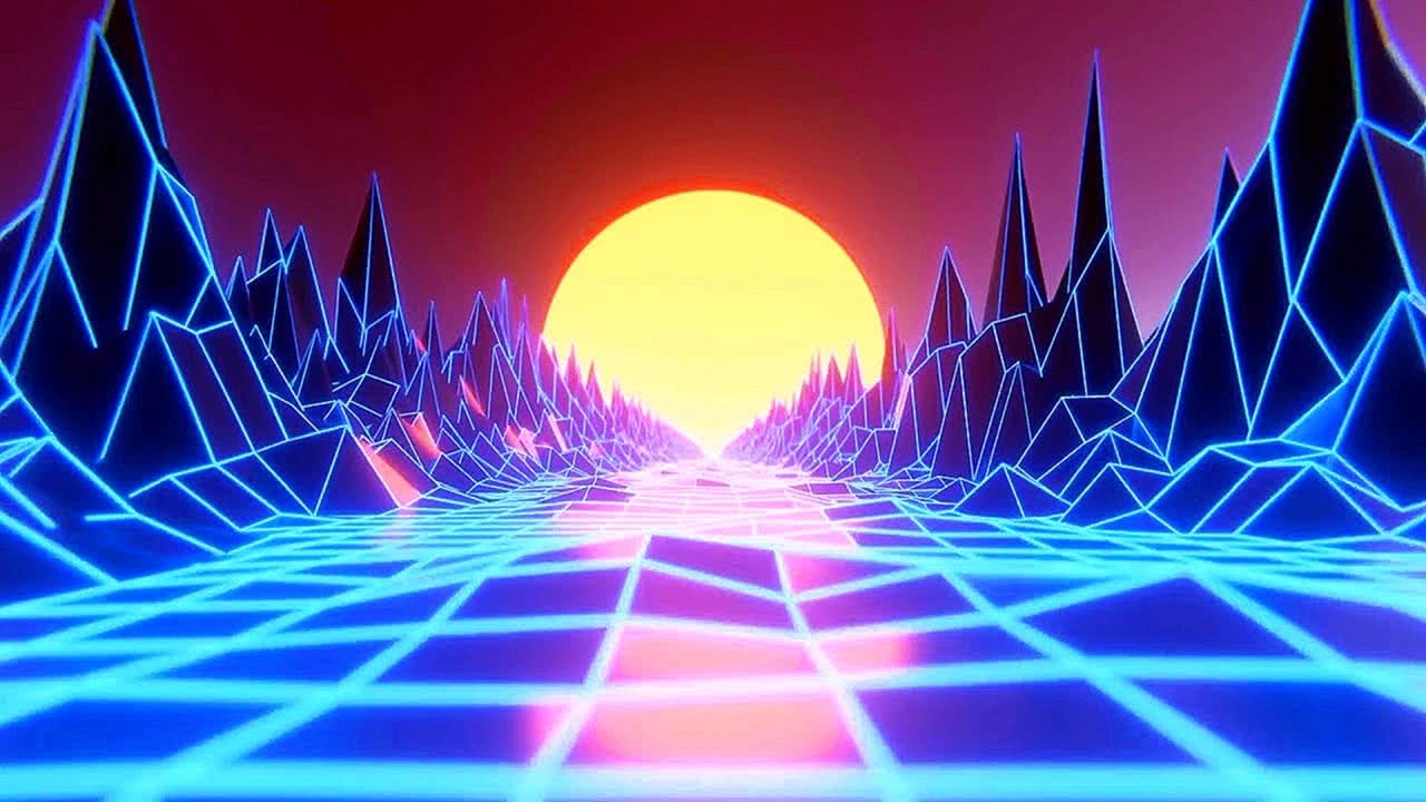 Neon Walkthrough Path HD Relaxing Screensaver