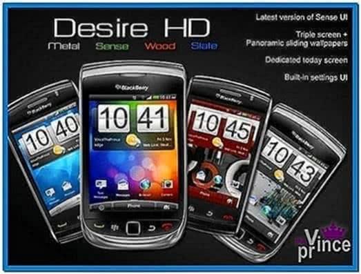 Htc Desire HD Screensaver Clock