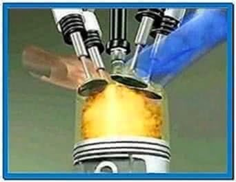 Internal combustion engine animation screensaver