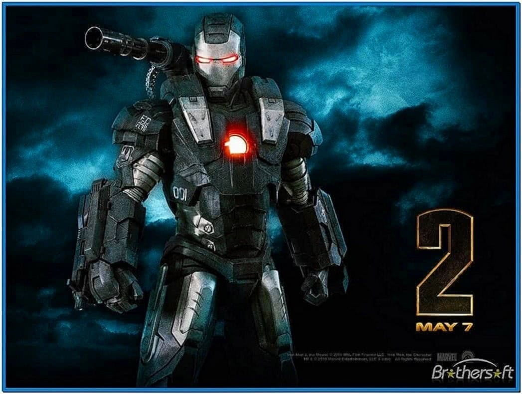 Iron Man 2 War Machine Screensaver