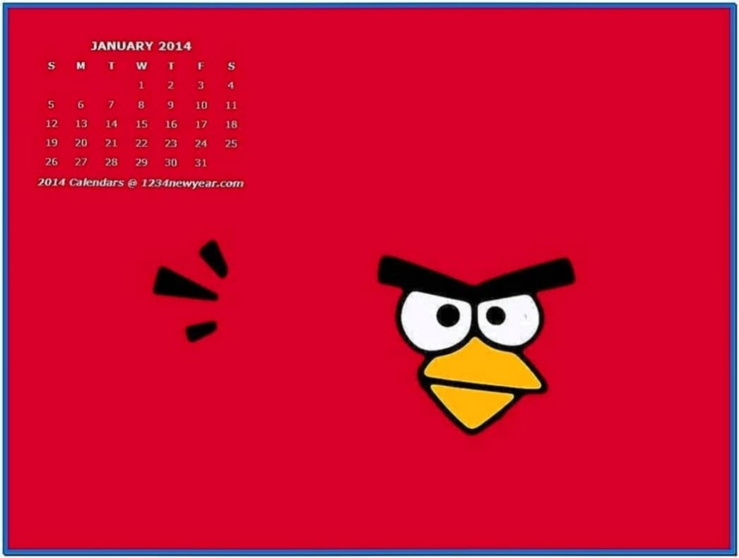 January 2020 Calendar Screensaver