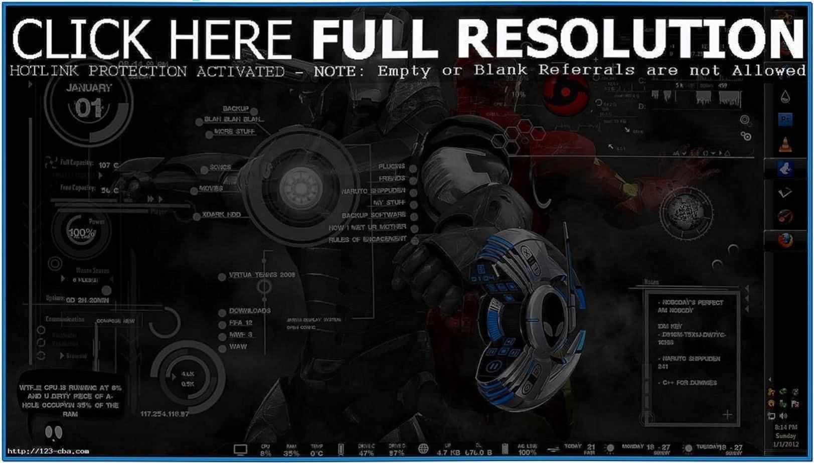 Jarvis Computer Screensaver