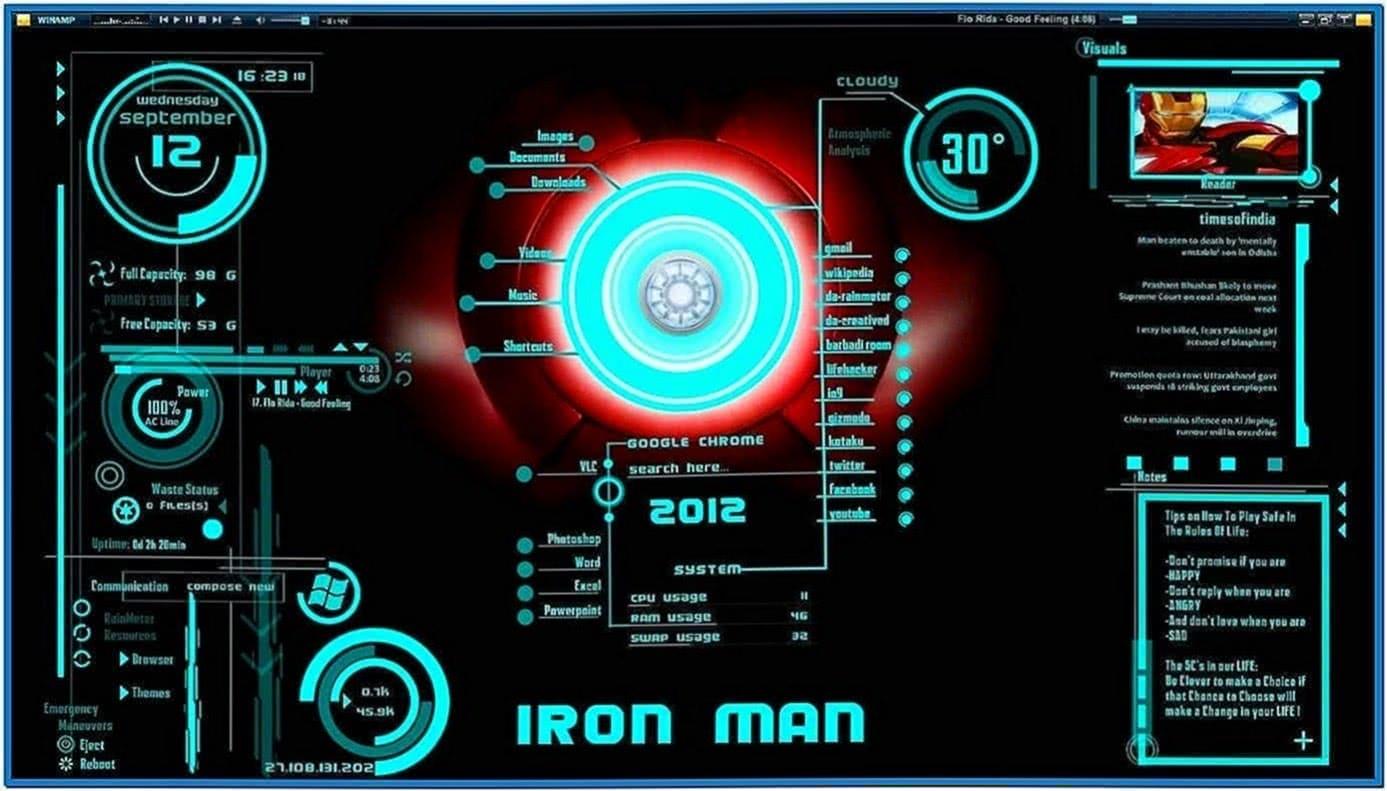 Jarvis screensaver Mac