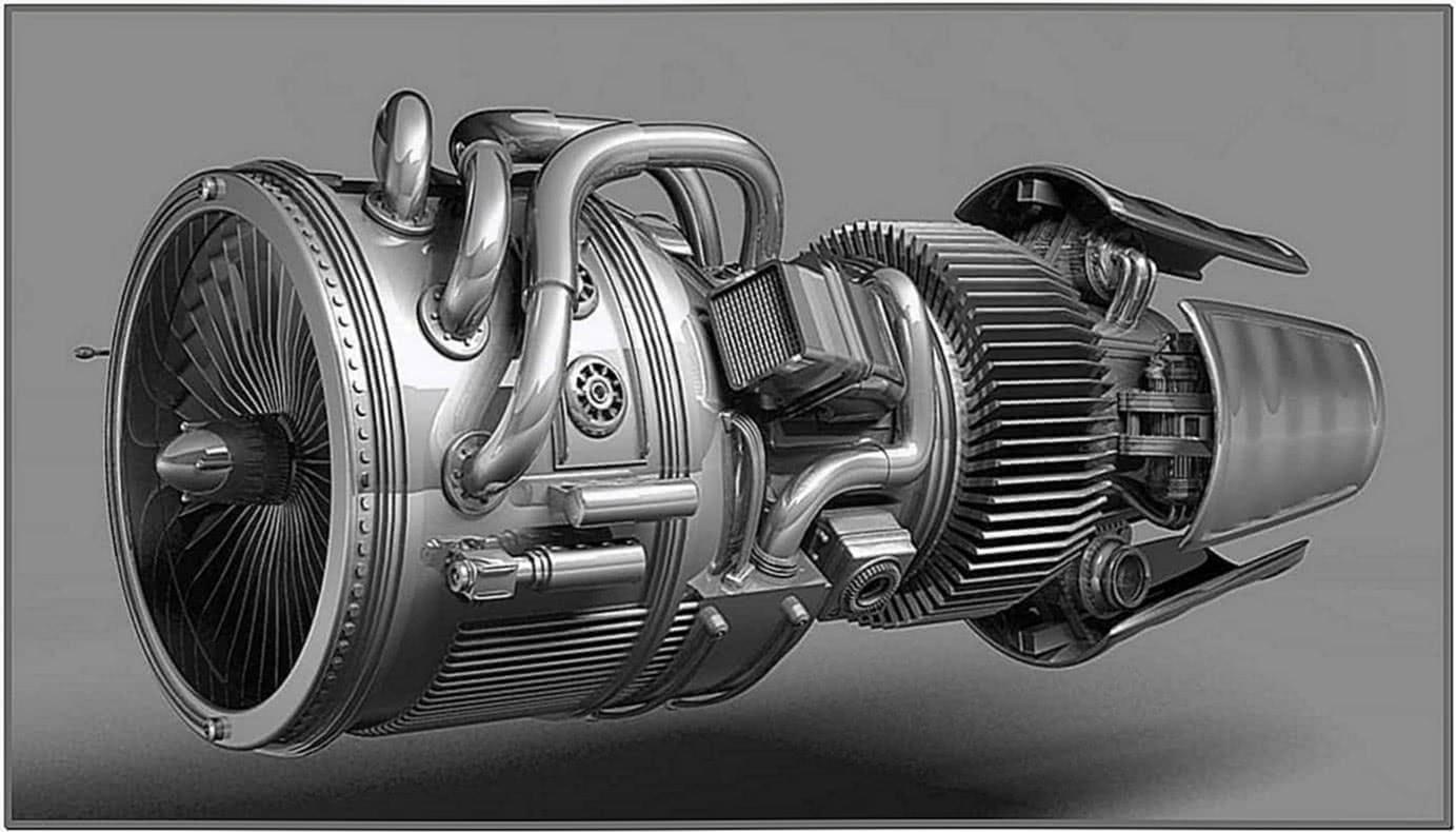 Jet Engine Animation Screensaver
