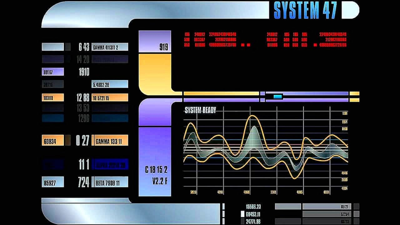Star Trek The Next Generation LCARS Display Screensaver