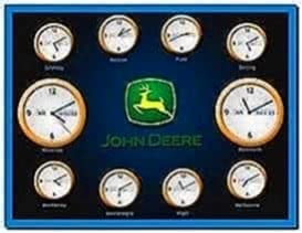 John Deere Clock Screensaver
