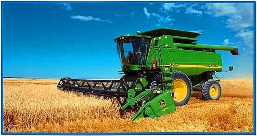 John Deere Combine Screensaver