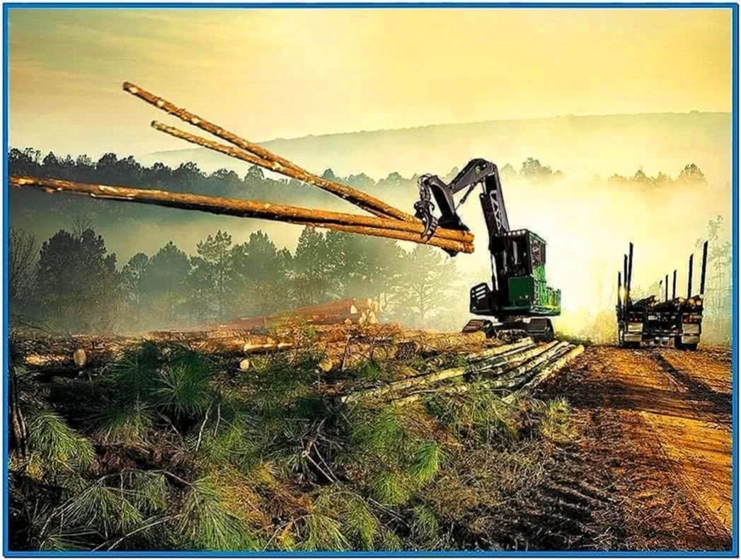 John Deere Construction Screensaver