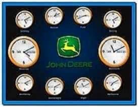 John Deere World Time Screensaver