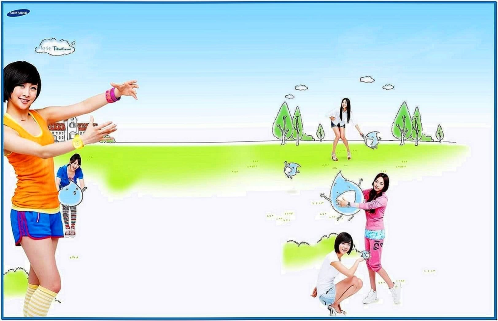 Kara Samsung Campaign Bubble Screensaver