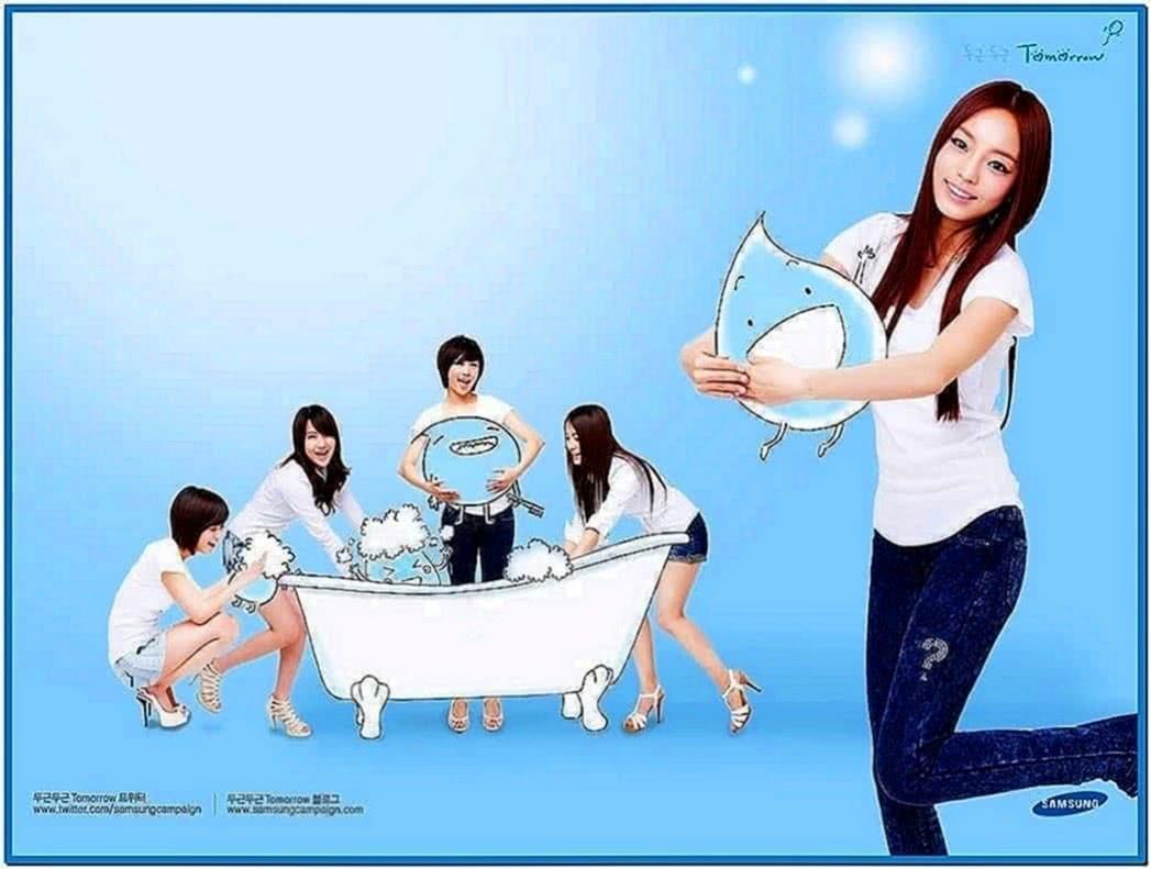 Kara Samsung Campaign Bubble Screensaver