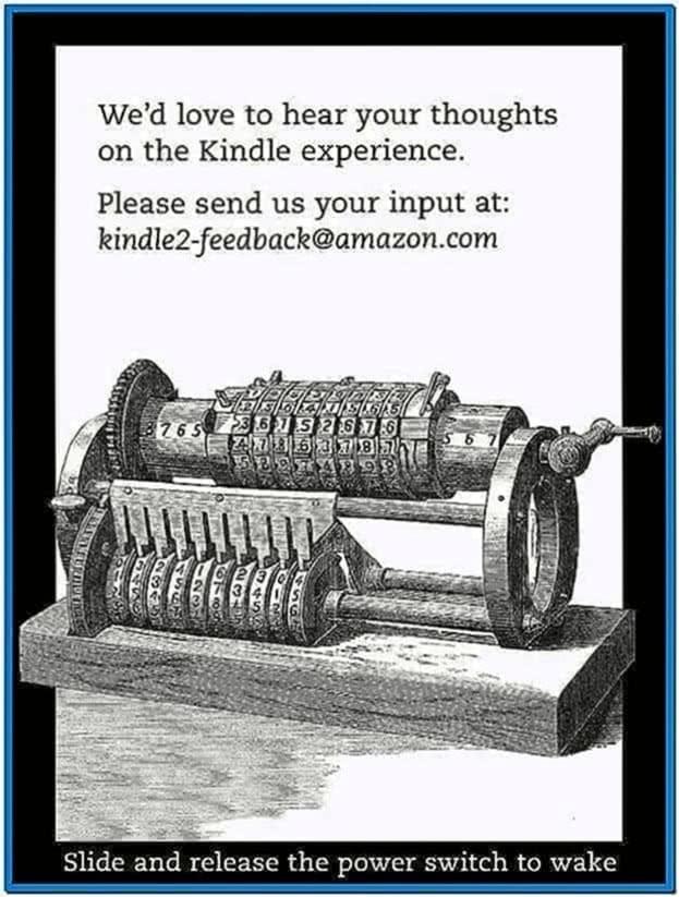 Kindle 2 Original Screensavers