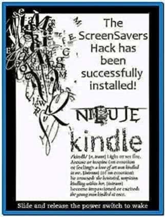 Kindle 3 Screensaver Hack 3.2.1
