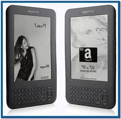 Kindle 3G Sponsored Screensavers