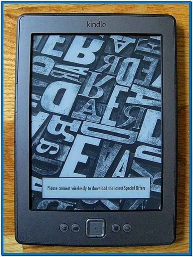 Kindle Touch Default Screensavers