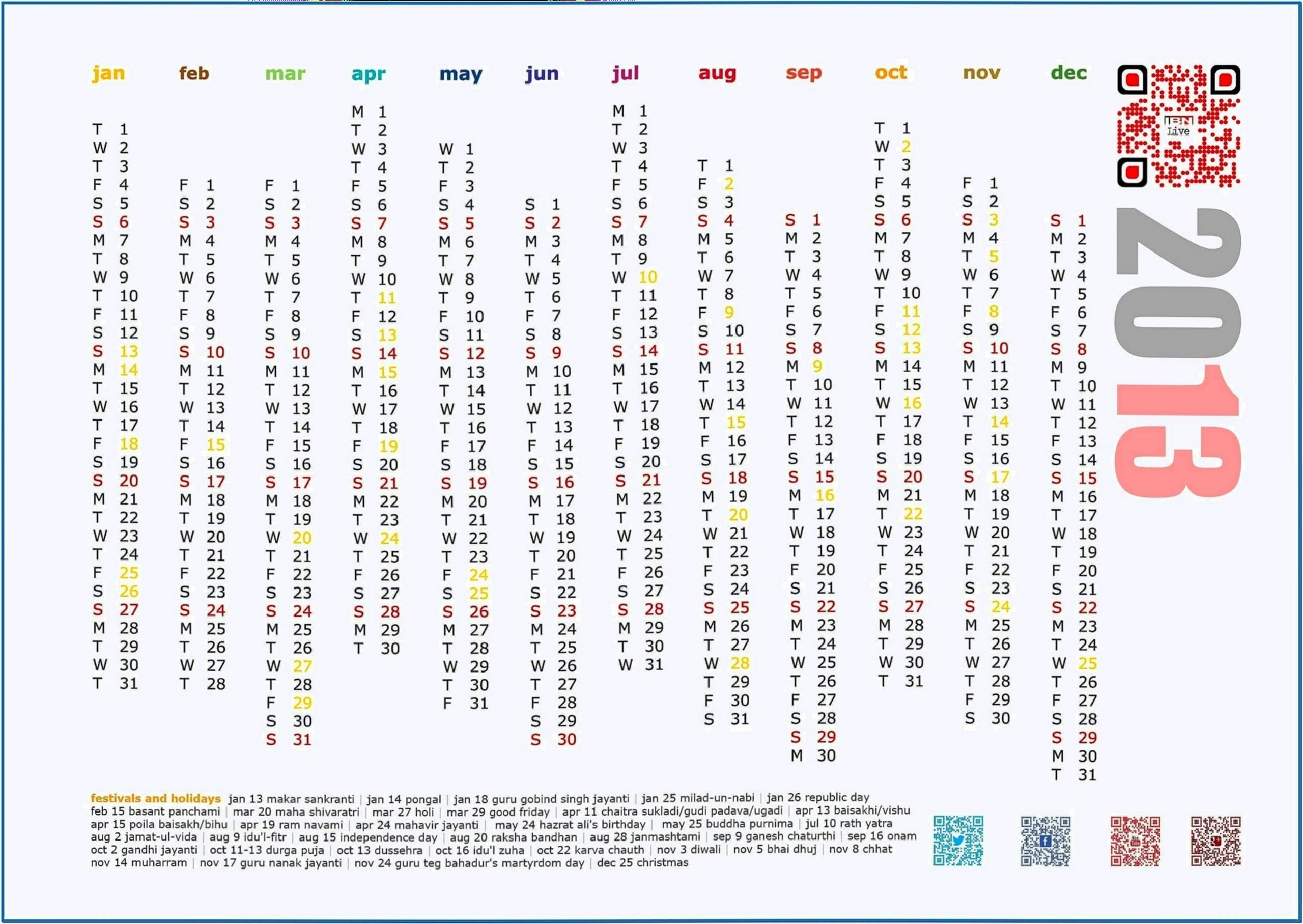 Kingfisher Calendar 2020 Screensaver