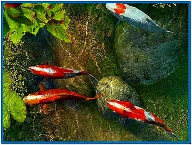 Koi Fish 3D Screensaver 1.0