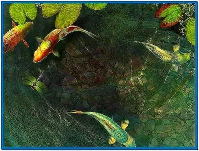Koi fish 3D screensaver