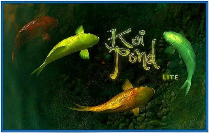 Koi Fish 3D Screensaver Mac