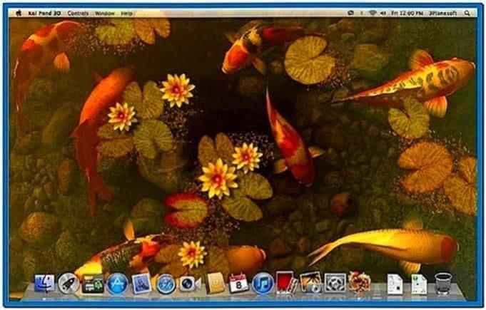 Koi fish pond 3d screensaver download free for Koi pond screensaver