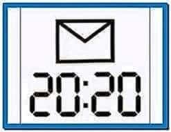 Large time screensaver Nokia 5230
