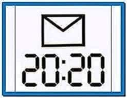 Large Time Screensaver Nokia 5800