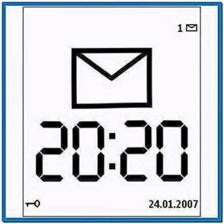 Large Time Screensaver Nokia 6300