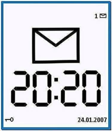 Large Time Screensaver Nokia N70