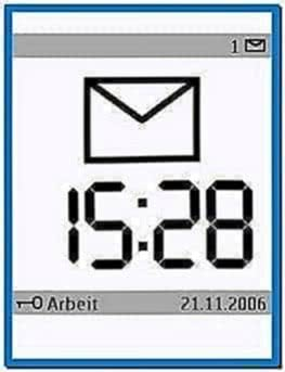 Large time screensaver s60 3rd edition