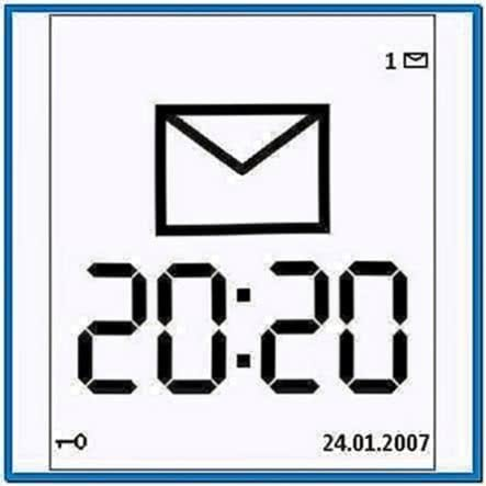 Large Time Screensaver Symbian