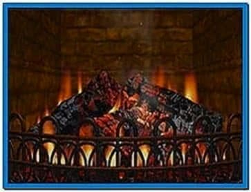 Lcd TV Fireplace Screensaver