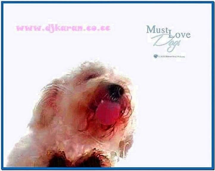 Licking Dog Screen Cleaner Screensaver