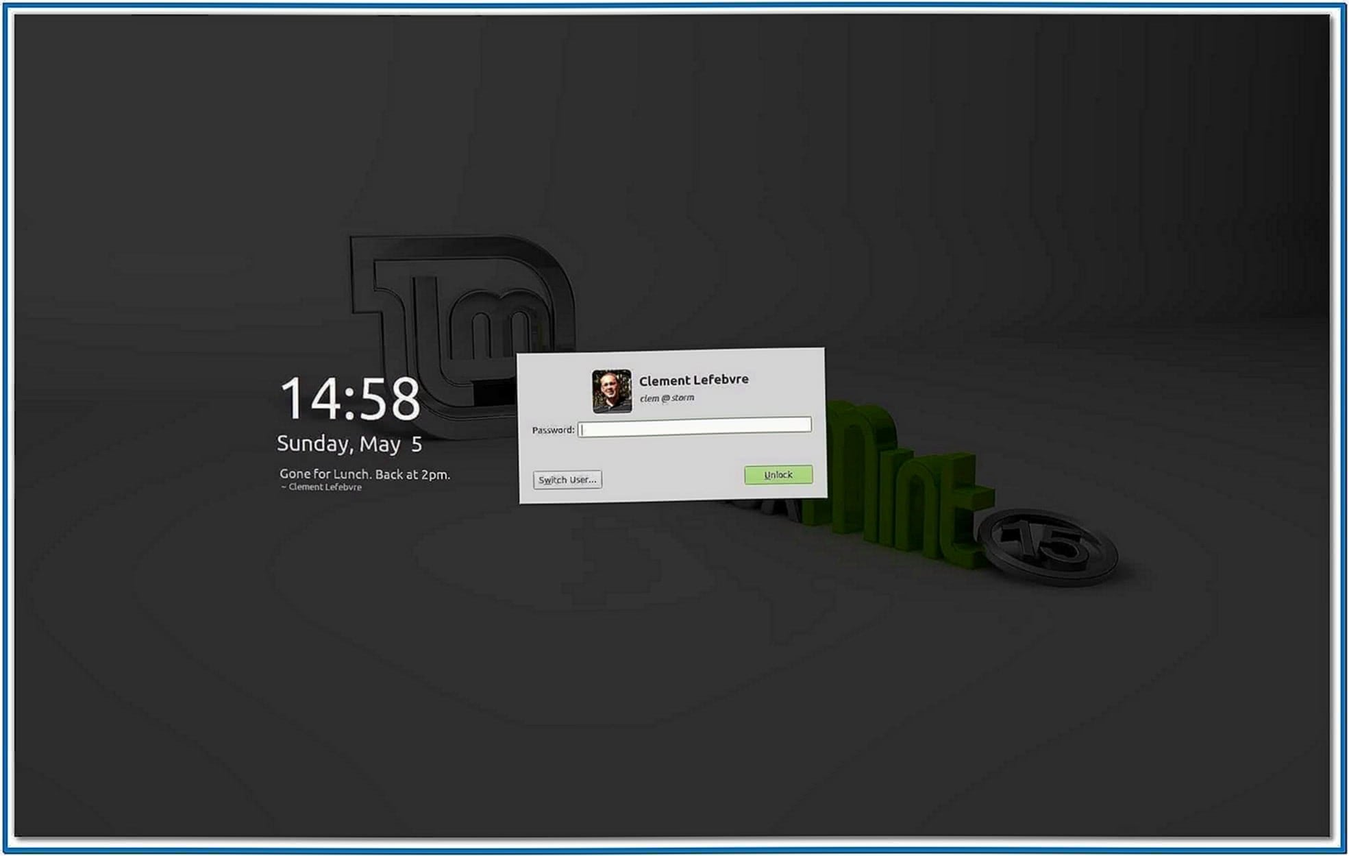 Linux Mint Clock Screensaver