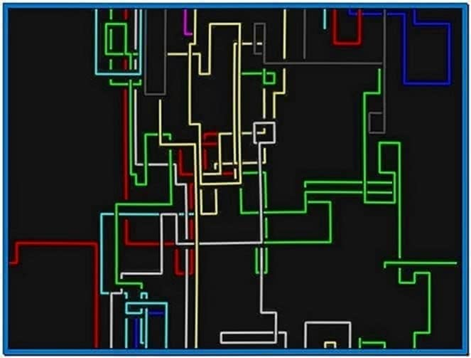 Linux Terminal Pipes Screensaver