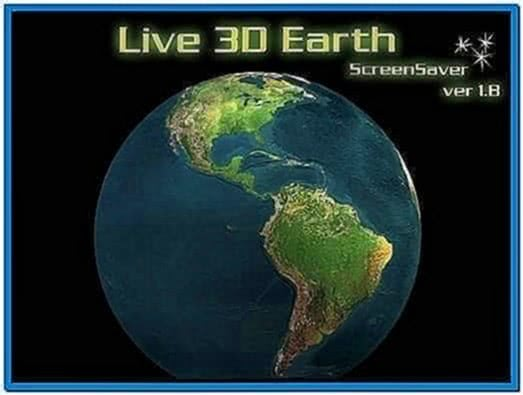 Live 3D Earth Screensaver Mac