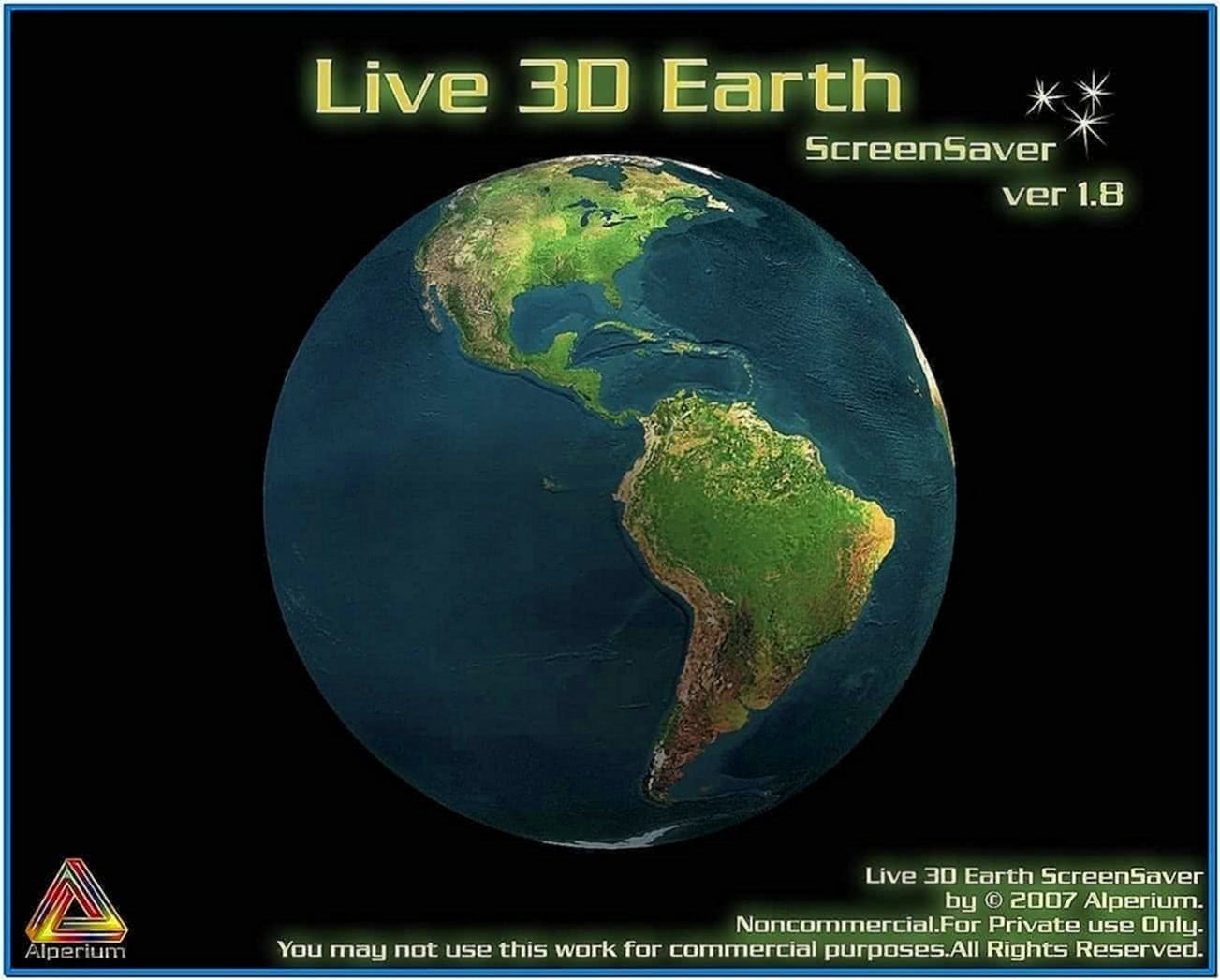 Live 3D Earth Screensaver