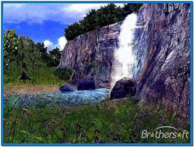Live 3D Waterfall Screensaver 1.0