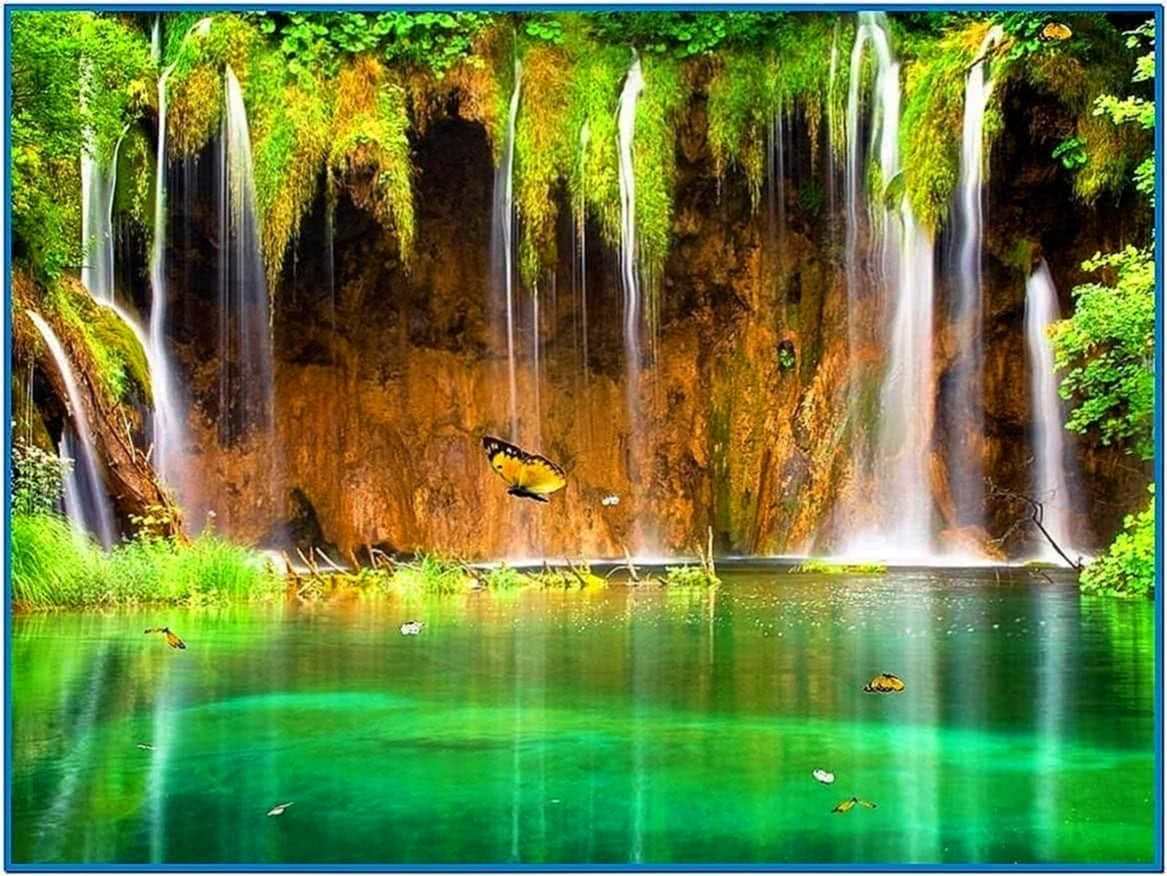 Live waterfall screensavers