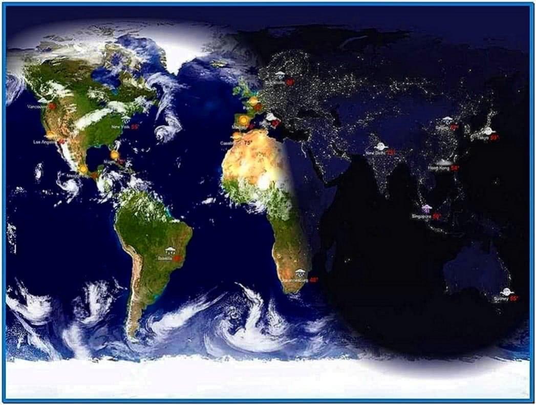Living Earth Desktop Screensaver