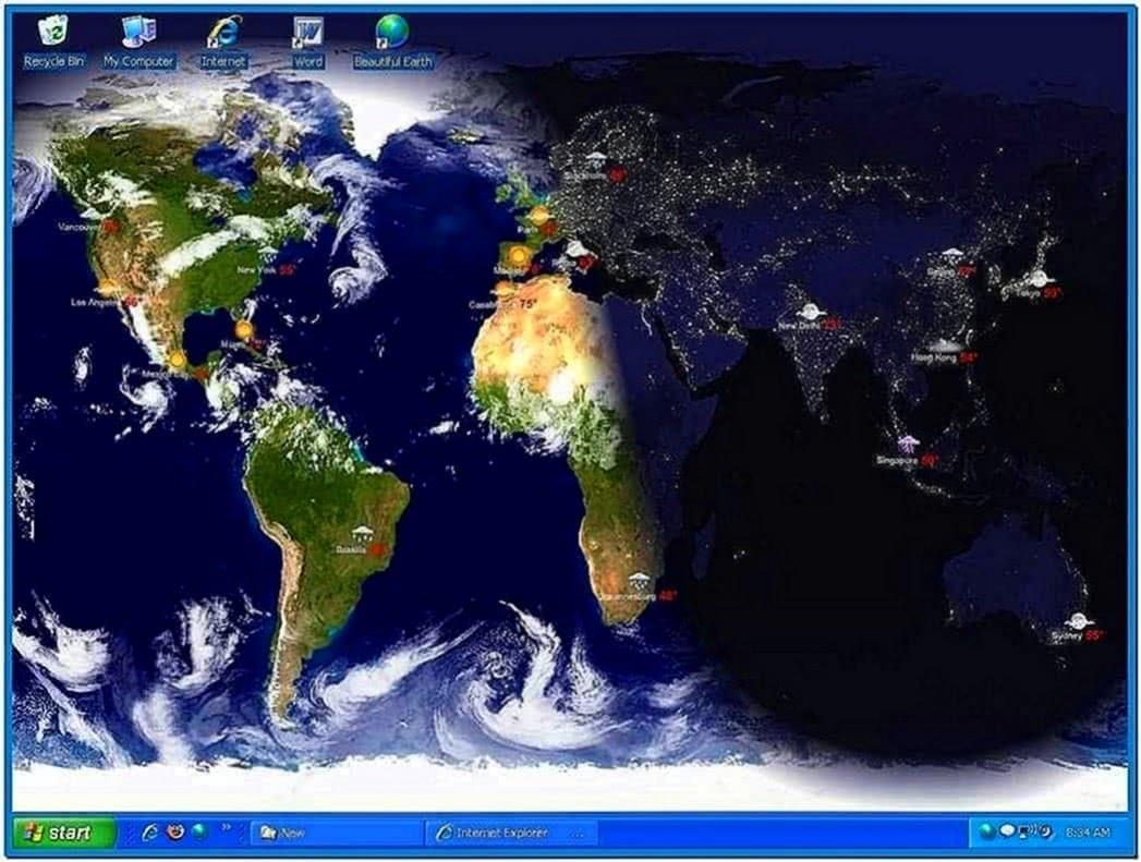 Living Earth Desktop Wallpaper and Screensaver